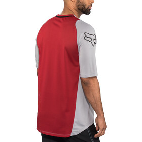 Fox Defend Fine Line SS Jersey Herren steel gray